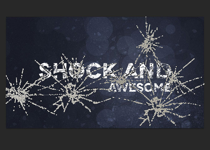 Broken and  Shattered Text Effect - Photoshop Tutorial