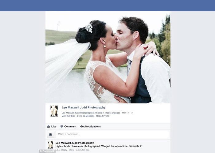 Wedding Photographer Calls Client 'Ugliest Bride' and 'Bridezilla'