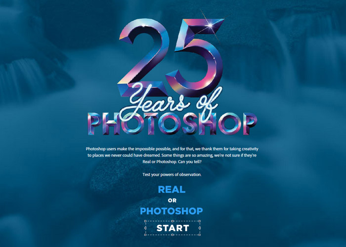 Adobe's Real or Photoshop quiz