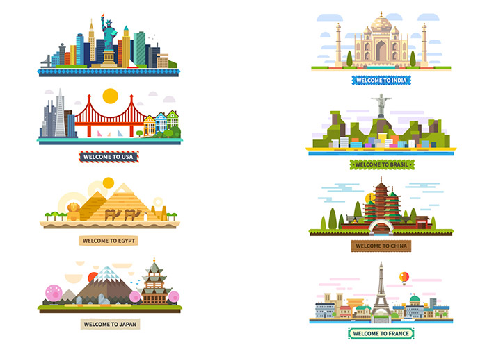 Flat Design Inspiration - Illustrations