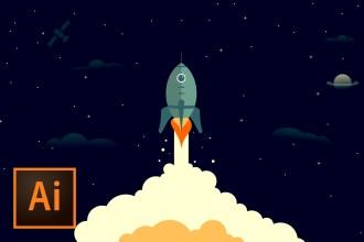 rocketship-illustration-illustrator-tutorial