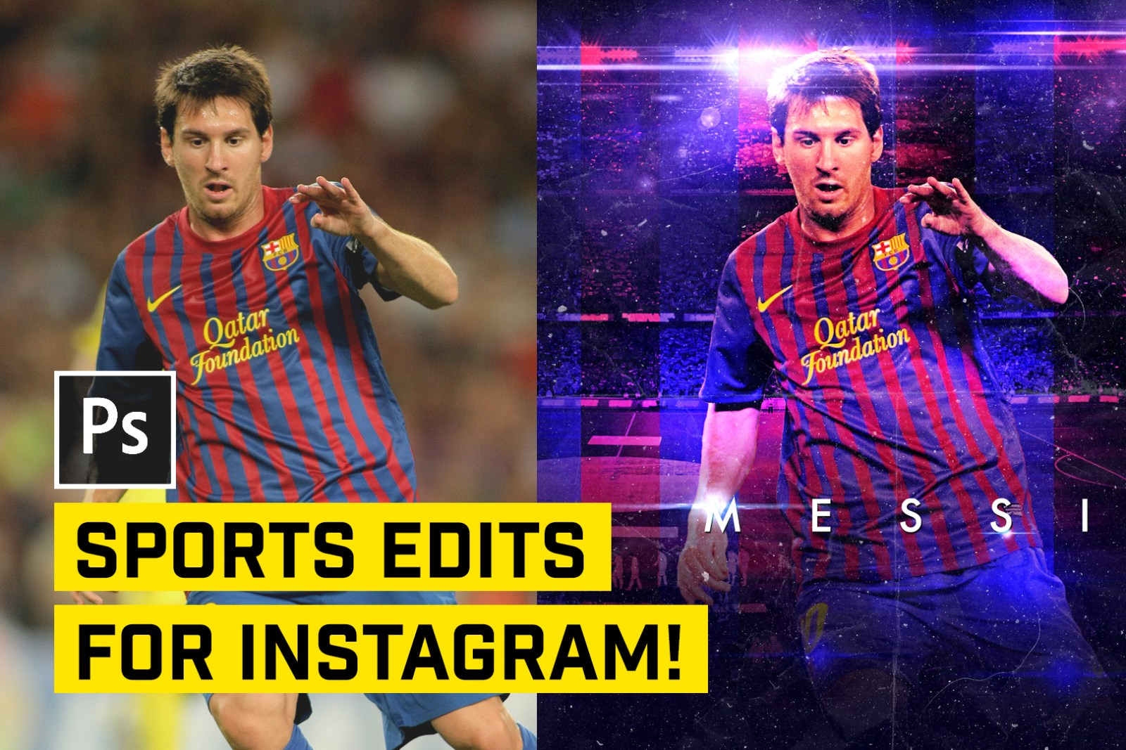 sports edits in photoshop for instagram tutorial