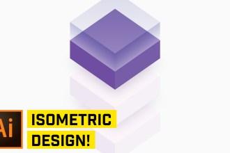 3D Isometric Cube Design in Adobe Illustrator CC