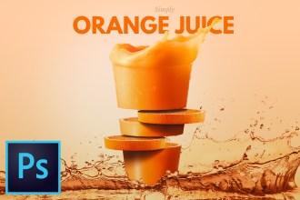 Fruit Juice Composite Effect Photoshop Tutorial