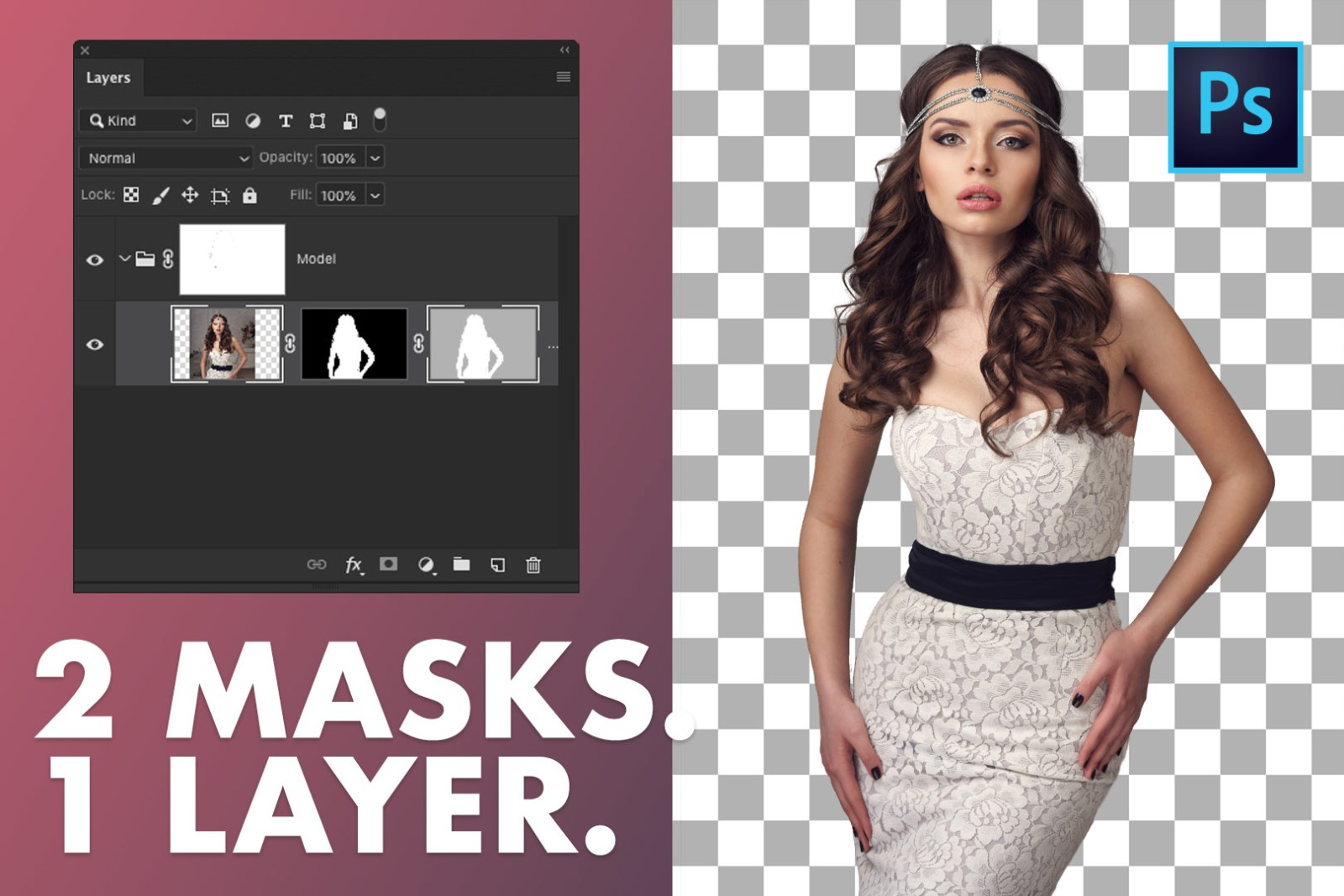 Photoshop HACK - Double Layer Mask Trick In Photoshop