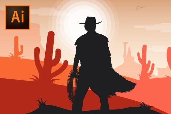 Create a Western Cowboy Illustration in Adobe Illustrator!