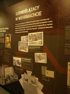 Plansza dotycząca służby Ślązaków w Wermachcie