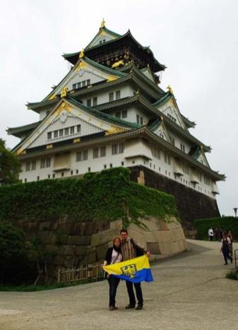 Osaka, Japonia. Jadzia i Adam Korzeniowscy