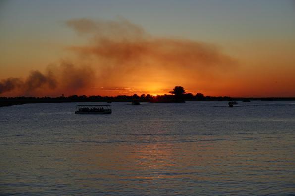 Zachód słońca obserwowany z naszego campingu