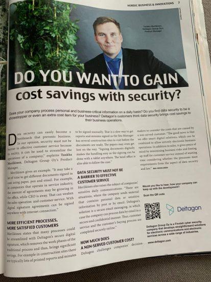 Tuukka Merilainen's Interview in Norwegian's Magazine