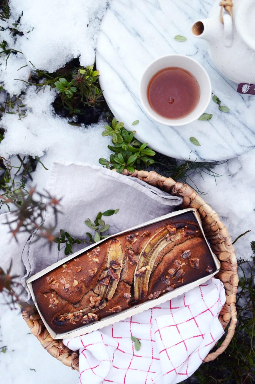 Healthy gluten-free Banana Bread | tuulia blog