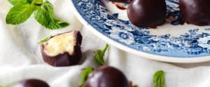 Raw Mint Chocolate Truffles