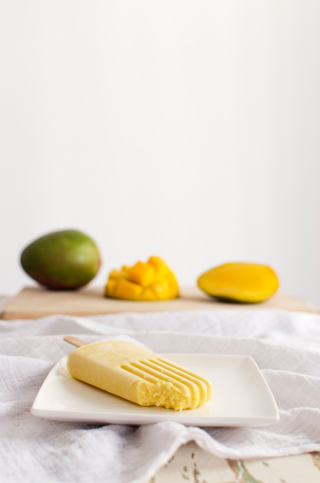 Mango Coconut Ice Pops from