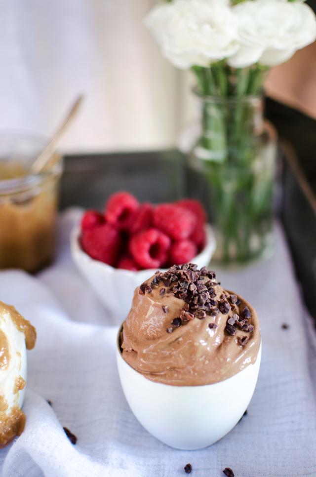 raw chocolate soft serve (dairy free)