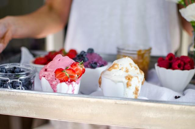 strawberry soft serve ice cream