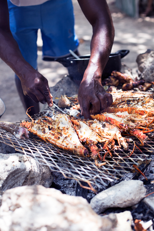 grilled lobsters in negril