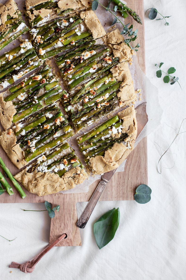 Asparagus & Goat Cheese Galette (gluten-free)