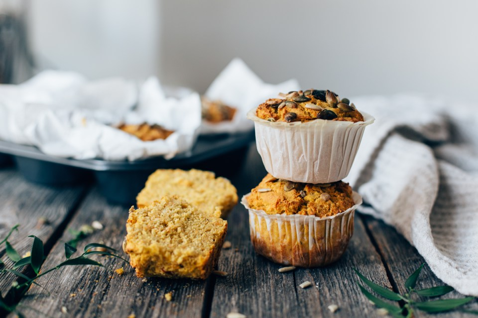 Savory Carrot & Zucchini Muffins (gf + v) | tuulia blog