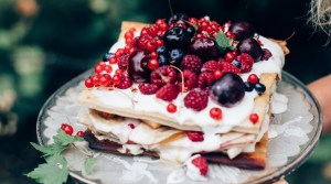 Pancake Cake w/ Summer Berries
