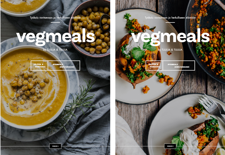 Vegmeals-ateriasuunnitelma viikot 3-4