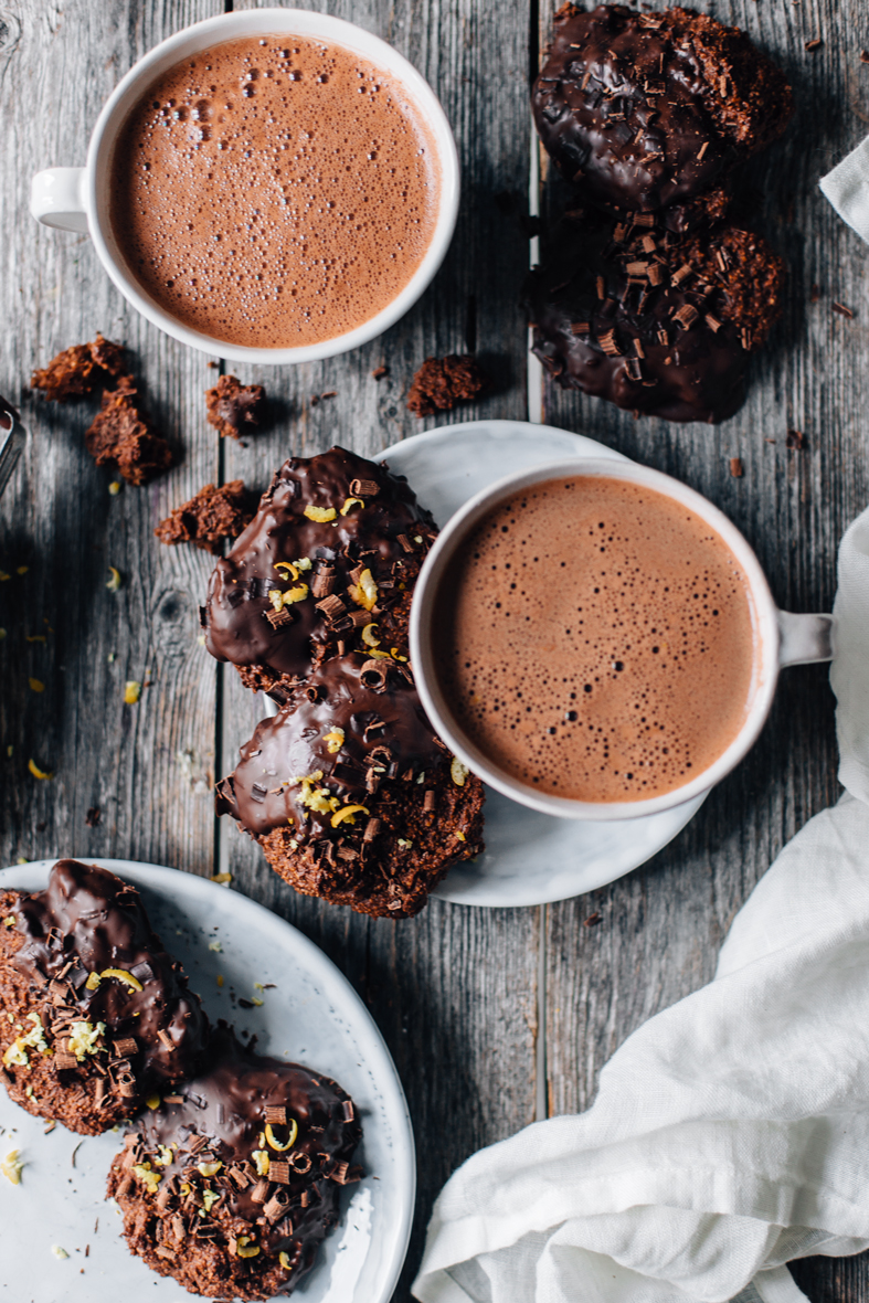 gluten-free & vegan double chocolate and orange cookies | tuulia blog