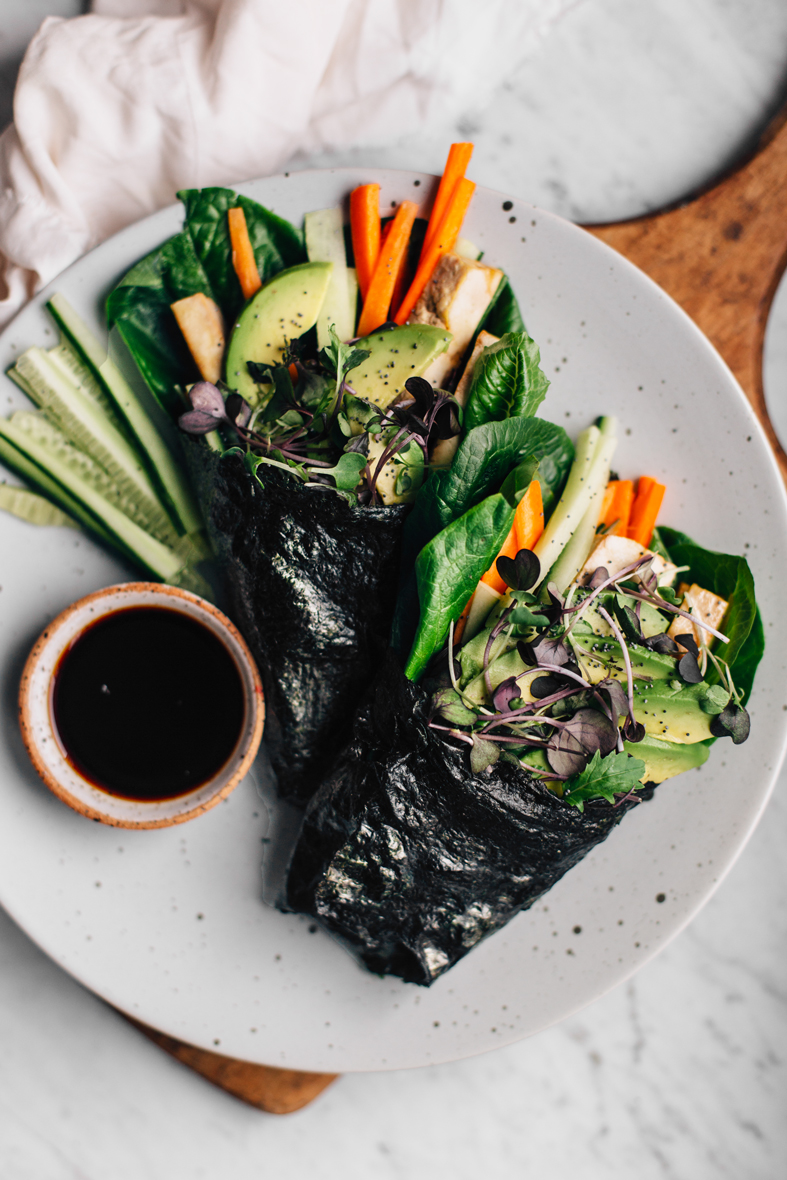 No-Rice Nori Rolls w/ Marinated Tofu & Veggies | tuulia blog
