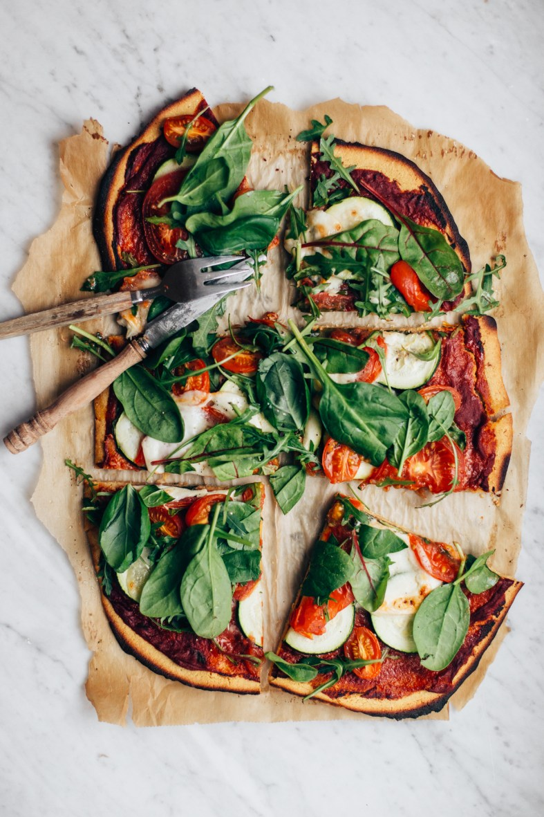 Easy Chickpea Flour Pizza | tuulia blog