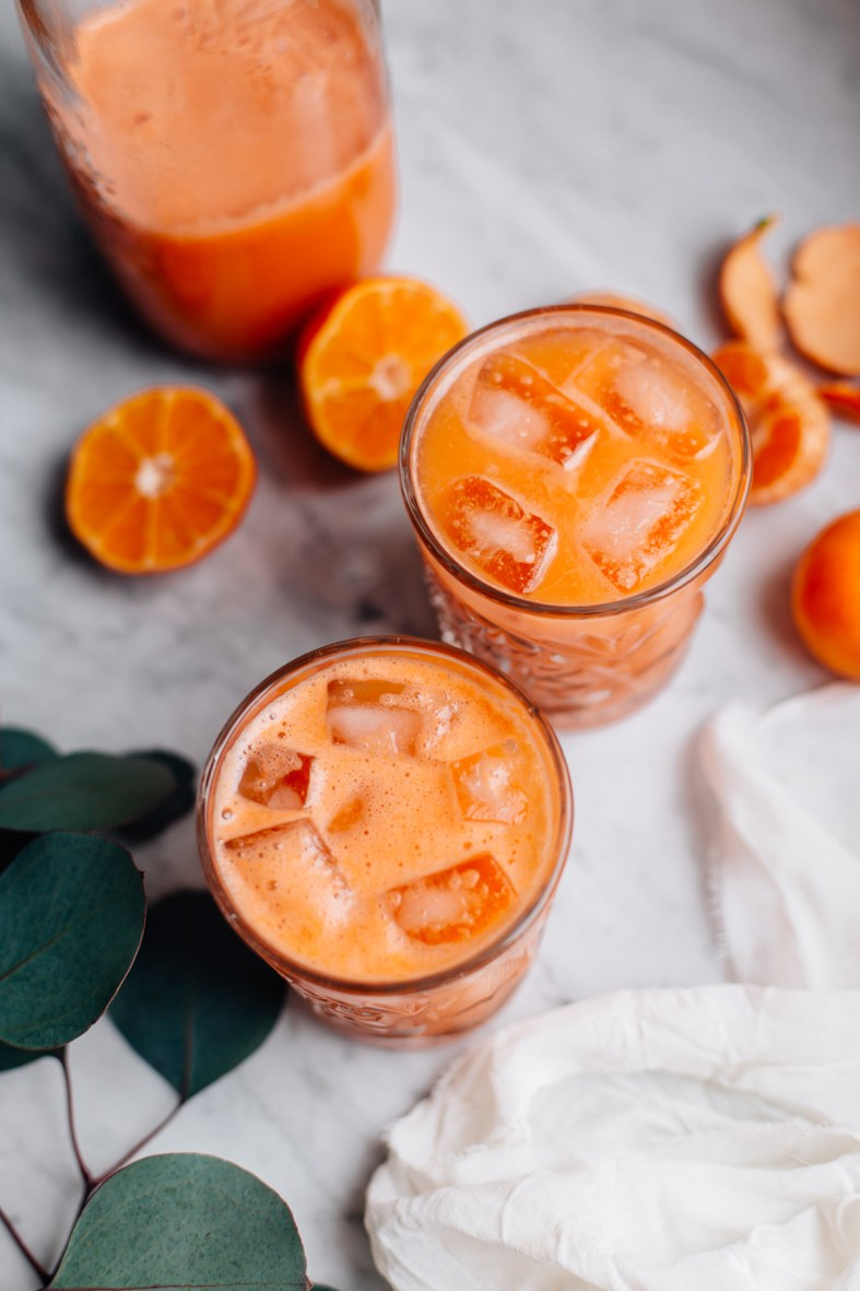Sweet Potato, Carrot, Mandarin & Ginger Juice | tuulia blog
