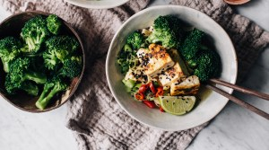 Feel Better Noodle Soup with Tofu & Broccoli