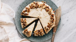 Sweet Potato Cake w/ Cashew Cream (GF)