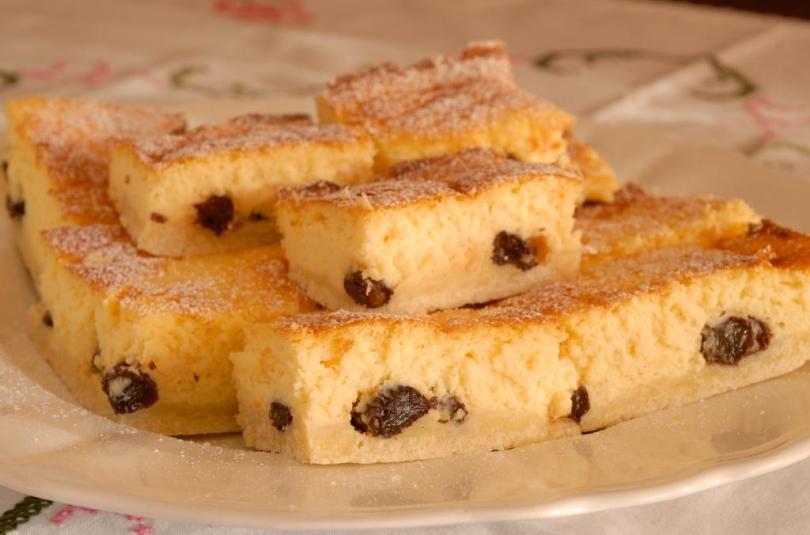 Kohupiimakook sidruni ja rosinatega
