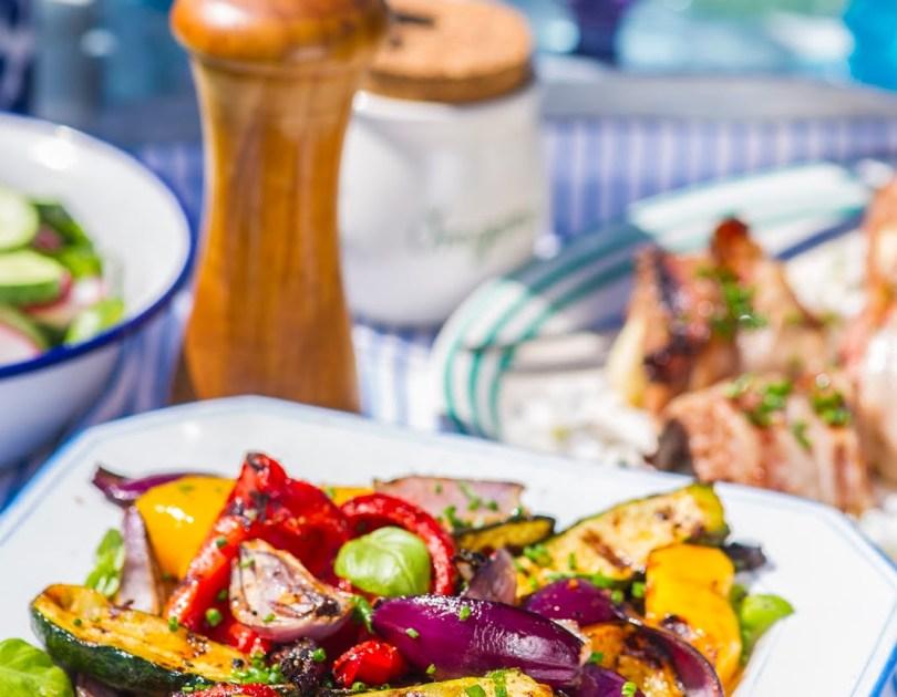 Kiirmarineeritud grillitud köögiviljad