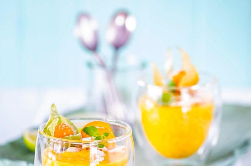Mango-tapiokipuding