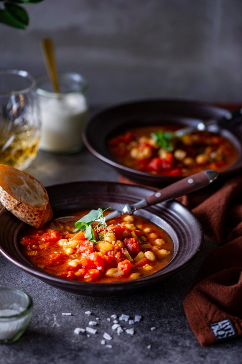 Tomatine kikerhernesupp