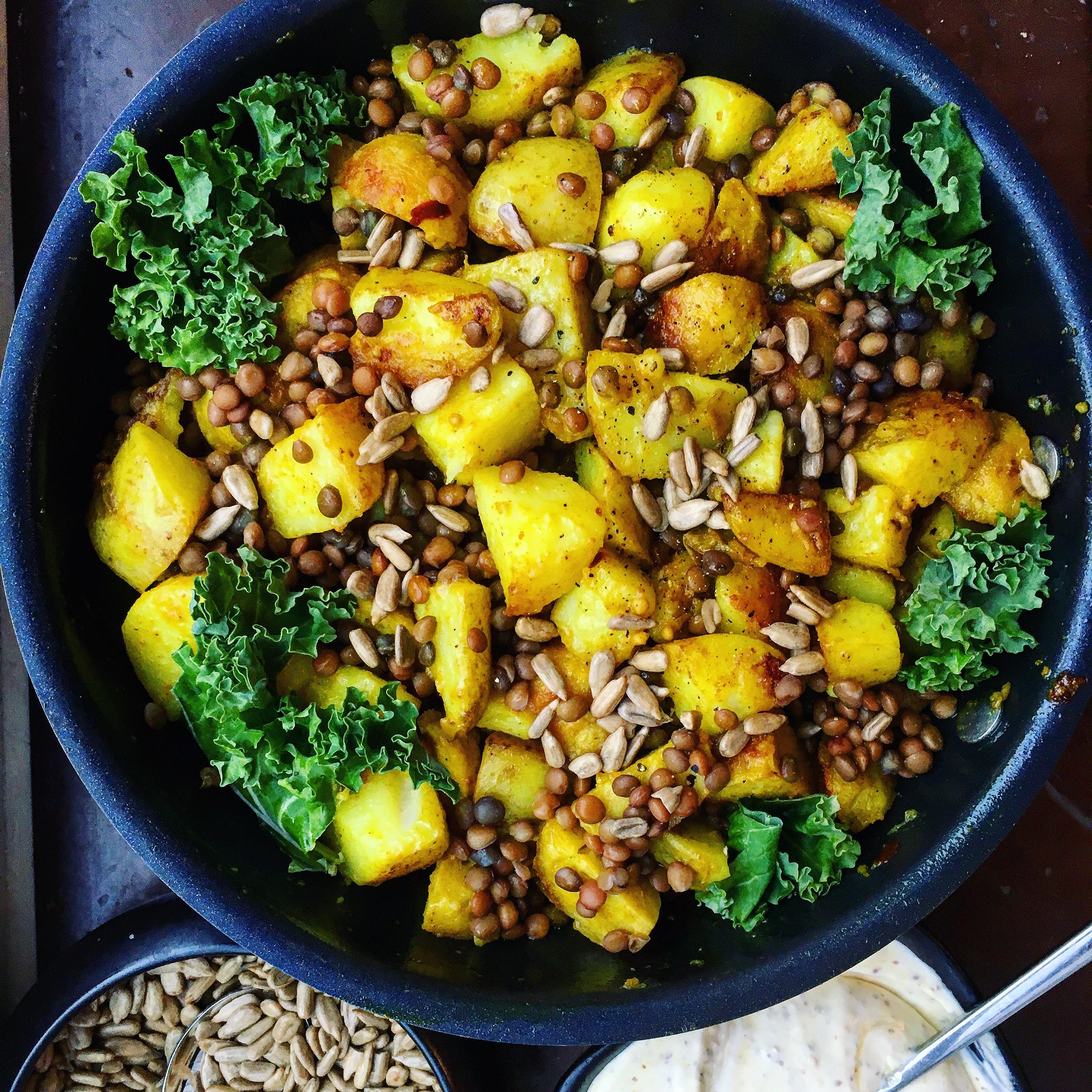 vegetarisk mat med potatis