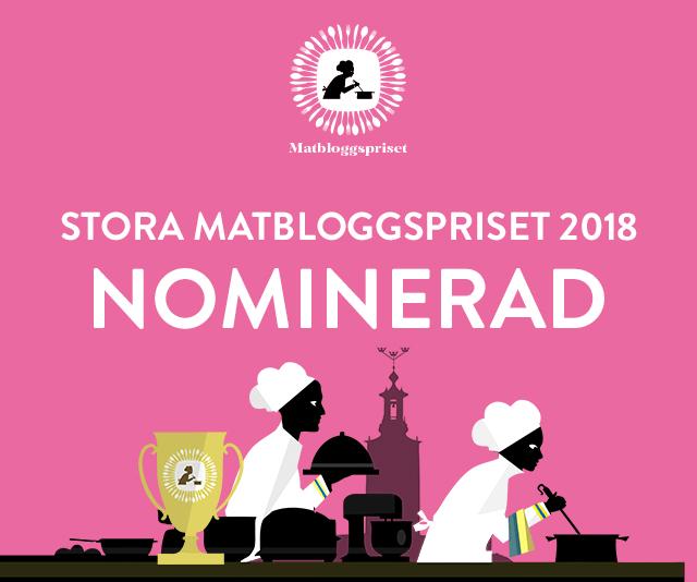 tuvessonskan nominerad till det stora matbloggspriset 2018