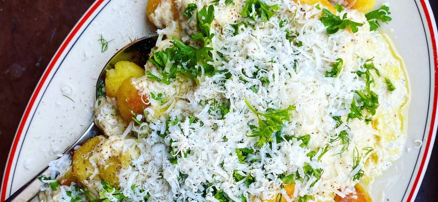 Gnocchi med kronärtskockssås