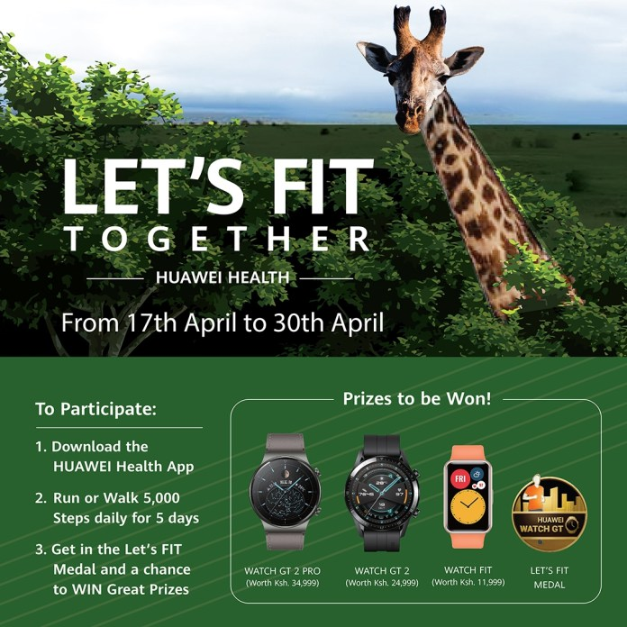 Kenyans to walk away with smart wearables in Huawei Mobile's Let's Fit Challenge