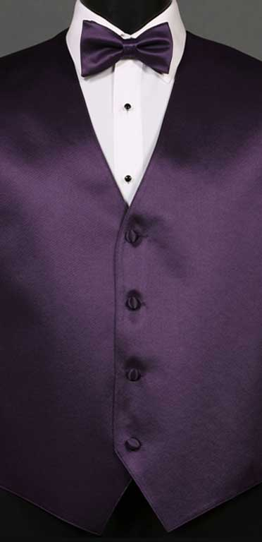 Amethyst simply sold vest with matching bow tie