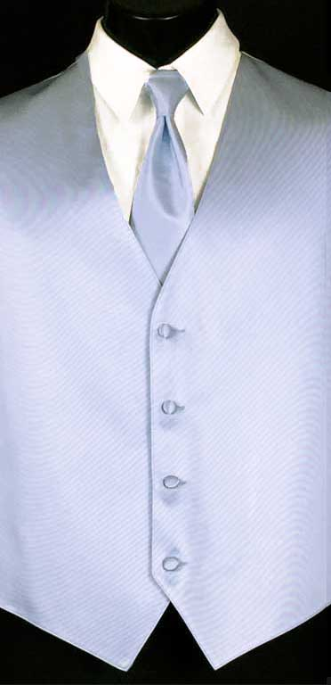 Baby Blue simply solid vest and matching Windsor tie