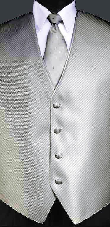 Bali Silver Metallic Synergy vest with Bali Siler Metallic Diamond Windsor tie