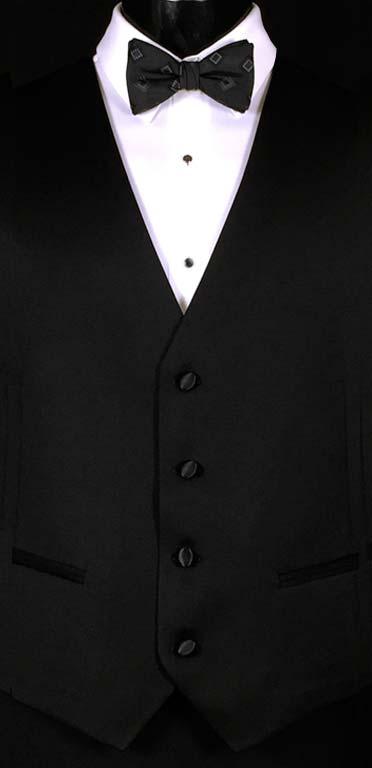 Black Michael Kors Vest with Black Bow Tie