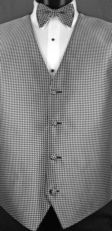 Black & White Devon Vest with matching bow tie