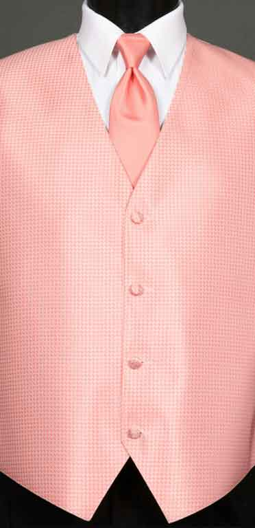 Candy Pink Devon Vest with Candy Pink Windsor tie