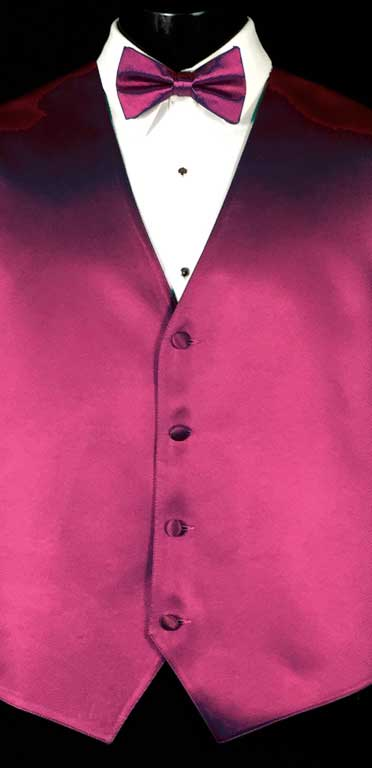 Fuchsia Simply Solid Vest with matching bow tie
