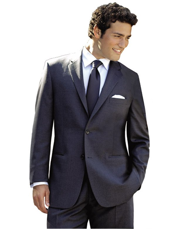 Grey Madison Suit by Perry Ellis