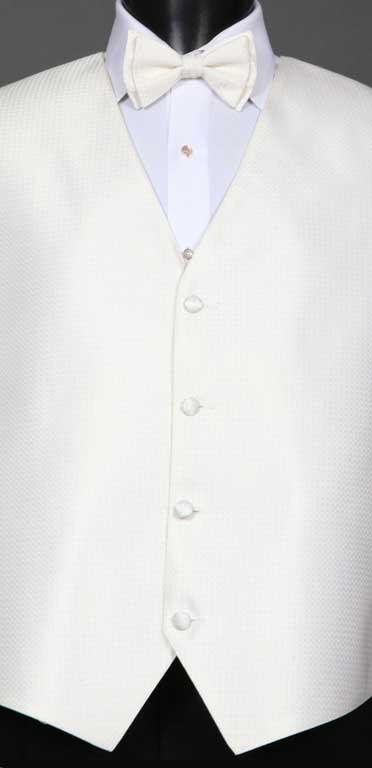 Ivory Devon Vest with matching bow tie