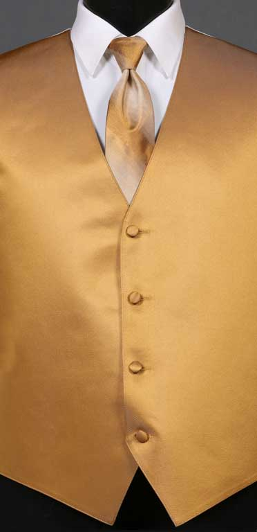 Midas Gold simply solid vest with Midas Gold Ombre Windsor tie