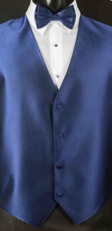 Navy Devon Vest with matching bow tie