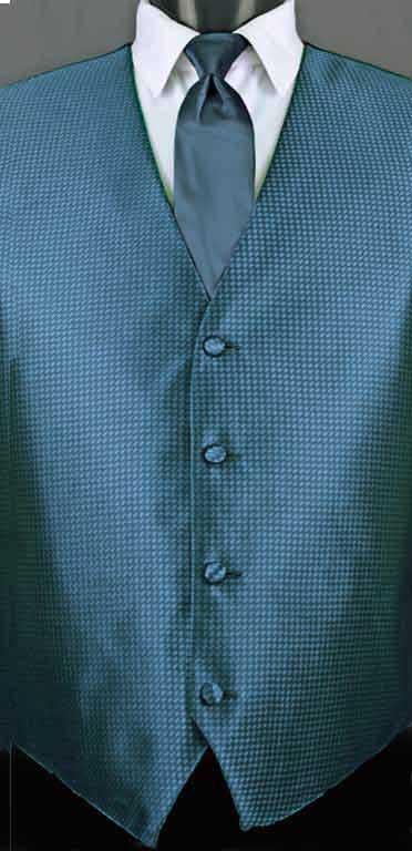 Ocean Blue Devon vest with Ocean Blue Windsor tie